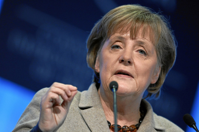 Angela Merkel à Davos (crédits : World Economic Forum, licence Creative Commons)