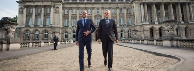 Charles Michel et Kris Peeters - source Facebook Charles Michel
