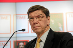 Clayton Christensen credits world economic forum (licence creative commons)