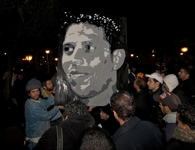 In memory of Mohammed Bouazizi  http://en.wikipedia.org/wiki/Mohamed_Bouazizi