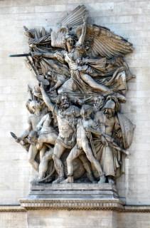 La Marseillaise, sur l'Arc de Triomphe à Paris (Crédits Wally Gobetz, licence Creative Commons)