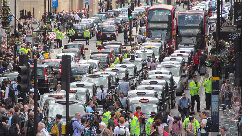 Manifestation anti Uber Londres CC David Holt London