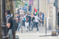 Manifestation (interdite) propalestinienne à Paris le 19 juillet (Crédits ANFAD, licence Creative Commons)
