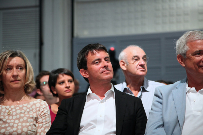 Manuel Valls à un meeting du PS (Crédits Mathieu Delmestre-PS licence Creative Commons)