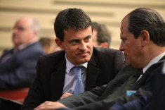 Manuel Valls et Jean-Christophe Cambadélis (Crédits Parti Socialiste licence Creative Commons)