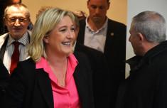 Marine Le Pen à Sciences Po en 2012 (Crédits Rémi Noyon licence Creative Commons)