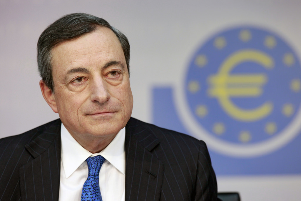 Mario Draghi en juin 2014 (Crédits : ECB European Central Bank, licence CC-BY-NC-ND 2.0), via Flickr.
