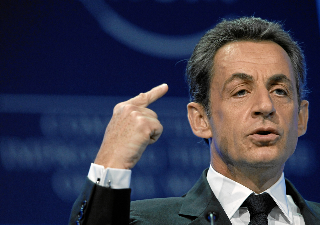 Nicolas Sarkozy à Davos (Crédits : World Economic Forum, licence Creative Commons)