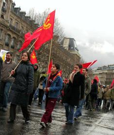 Nostalgiques de l'URSS dans une manifestation à Paris (Crédits Gideon Malias, licence Creative Commons)