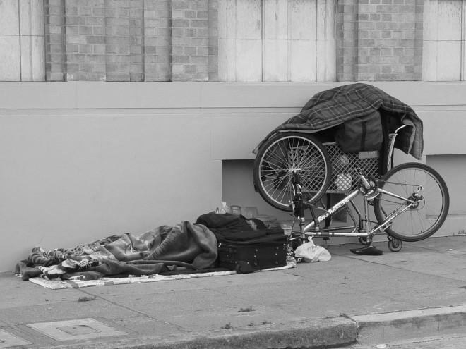 Pauvreté SDF (Crédits Franco Folini, licence Creative Commons)