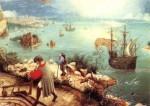La Chute d'Icare (Peter Bruegel l'Ancien, détail, image libre de droits)
