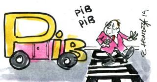 Caricature PIB (Crédits : René Le Honzec/Contrepoints, licence Creative Commons)