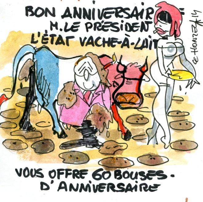Anniversaire de F Hollande René Le Honzec