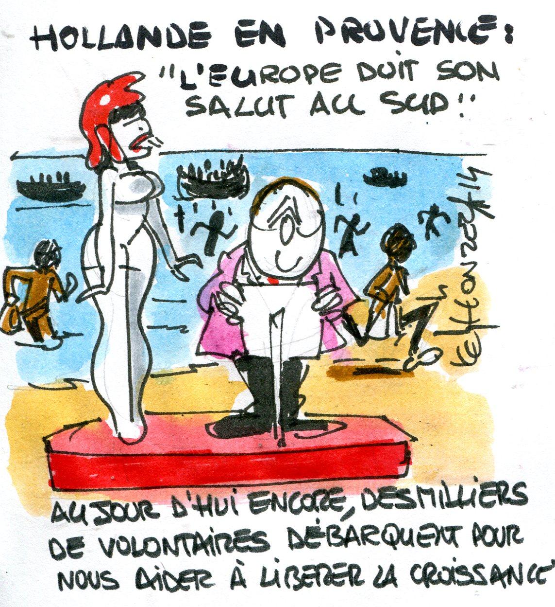 François Hollande débarquement de Provence (Crédits René Le Honzec Contrepoints.org, licence Creative Commons)