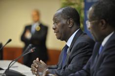 Le président ivoirien Alassane Ouattara (Crédits CSIS, licence Creative Commons)