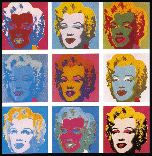 Marylin pop art credits gling glomo CC