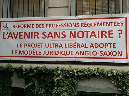 Réforme ultralibérale du notariat