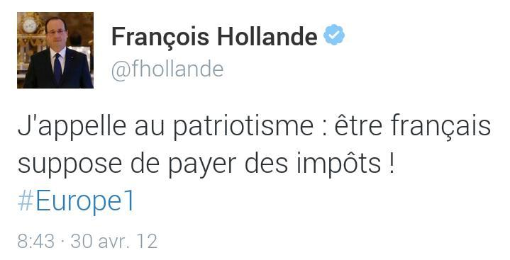 Tweet-Hollande