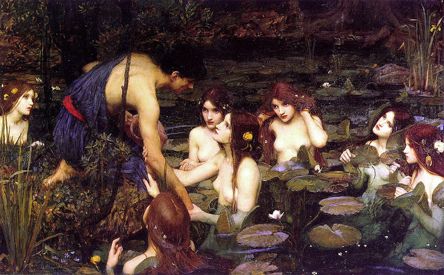 hylas and the nymphs credits tom jervis (licence creative commons)