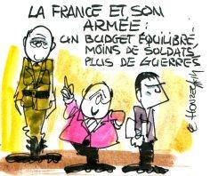 Le budget de l'armée en baisse
