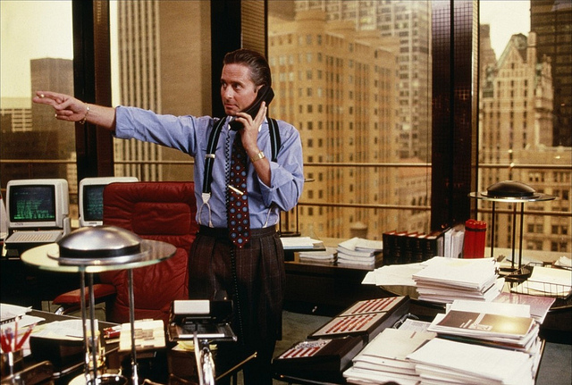 gordon gekko in wall street credits gaynor (licence creative commons)