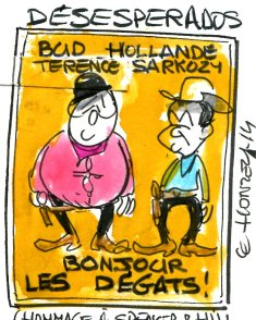 hollande sarko cow boys rené le honzec