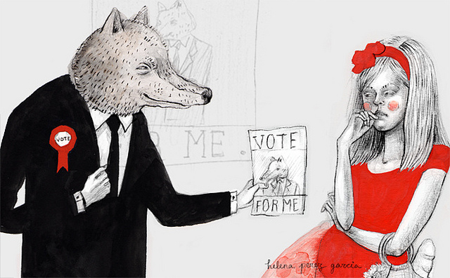 Little Red Riding Hood & The Wolf, credits  Helena perez garcia via Flickr ((CC BY-NC-ND 2.0))