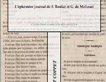 « L'éphémère journal de F. Bastiat et de G.de Molinari »