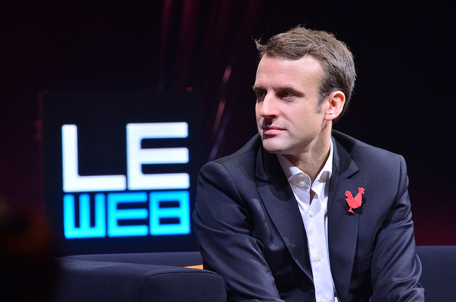 Emmanuel Macron credits Official leweb photos (licence creative commons)