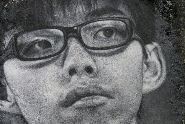Joshua Wong painted portrait Credit Thierry Ehrmann (creative commons)