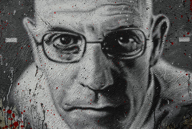 Michel Foucault, painted portrait Credit  thierry ehrmann (Creative Commons)