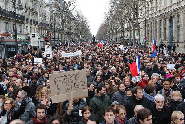 Manifestation républicaine du 11 janvier 2015 Charlie Hebdo Credit francediplomatie (CC)
