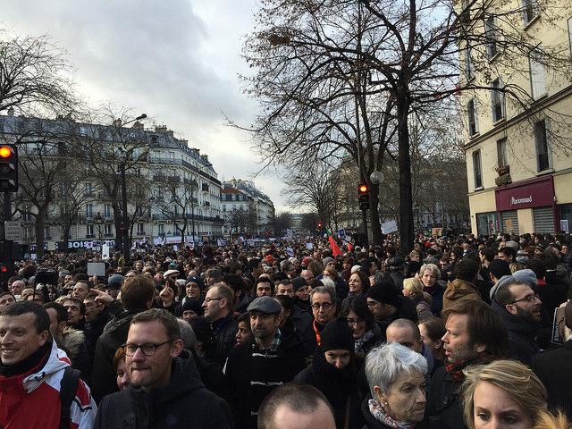 Marche républicaine 11 janvier 2014 Paris Chalie Hebdo - Credit AcuaLitté (Creative Commons)