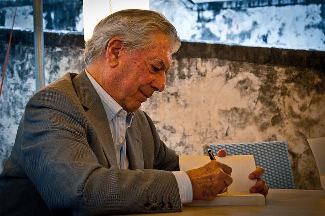 Mario Vargas Llosa Credit Daniele Devoti (Creative Commons)