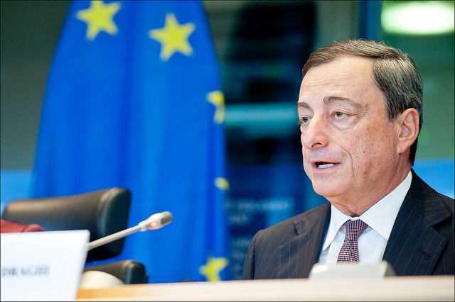 M Draghi credits European Parliament CC BY-NC-ND 2.0