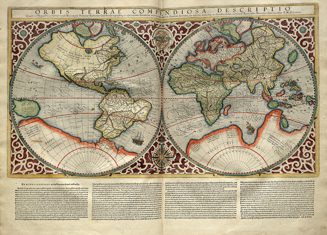 Mapa Mundi-Atlas sive Cosmographicae meditationes de fabrica mvndi et fabricati figvra 1595- Mercator- library of Congress (CC BY-NC-ND 2.0
