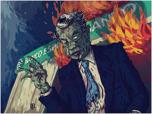 The Zombie Banker - Ricardo Salgado - Credit Jose Antonio Fundo (Creative Commons BY-NC-SA)