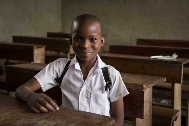 Inocent, 13, is one of the Congolese children attending NRCâs Education programme at Lushebere Primary School... credits European Commission DG ECHO (CC BY-ND 2.0)