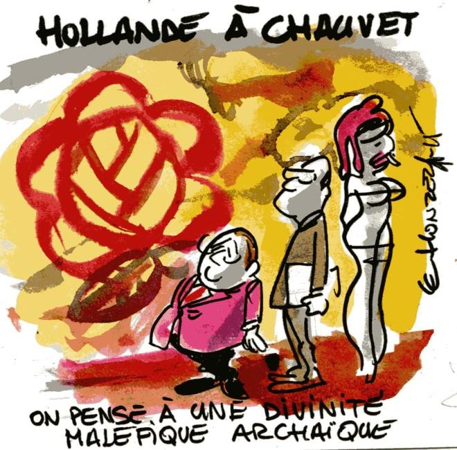 Hollande à Chauvet - René Le Honzec Contrepoints366