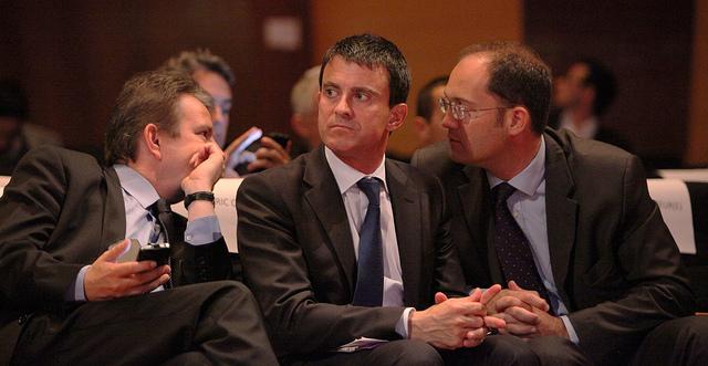 Manuel Valls et Guillaume Bachelay credits Parti socialiste  (CC BY-NC-ND 2.0)