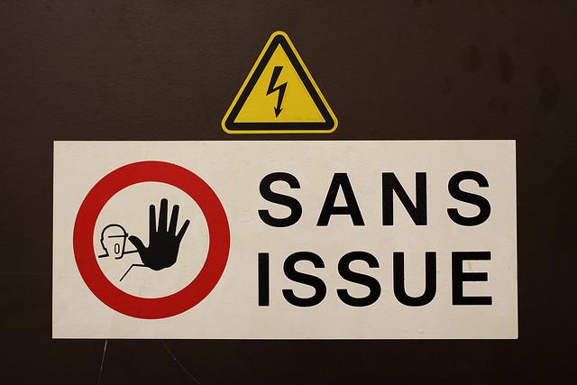 Sans issue credits Gwenael Plaser  (CC BY-NC-SA 2.0)