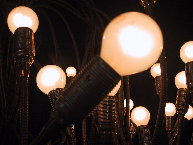 light bulbs credits André Mouraux  (CC BY 2.0)