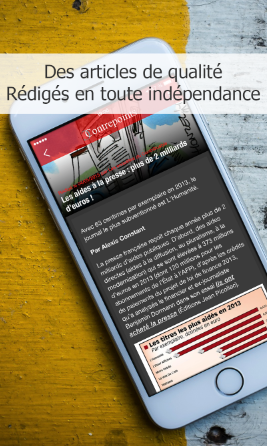 Application iOs du journal Contrepoints
