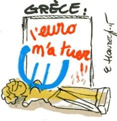 Grèce Euro  (Crédits : René Le Honzec/Contrepoints.org, licence CC-BY 2.0)
