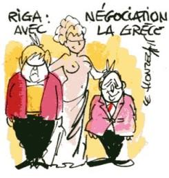 Sommet de Riga : négociation avec la Grèce