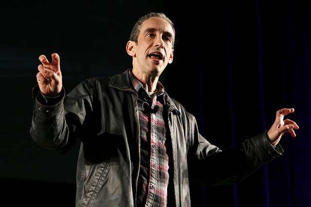 Douglas Rushkoff at webvisions 2011 credits webvisionsevent licence (CC BY-NC 2.0)), via Flickr.