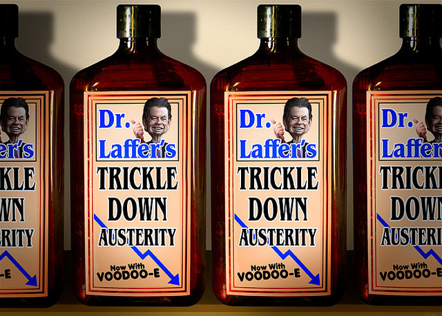 Dr Laffer's Trickle Down Austerity Elixir - DonkeyHotey  (CC BY 2.0)