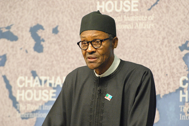 Muhammadu Buhari (Crédits Chatham House, licence CC-BY 2.0), via Flickr.