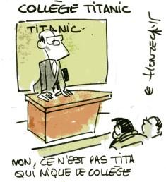 Collège titanic rené le honzec