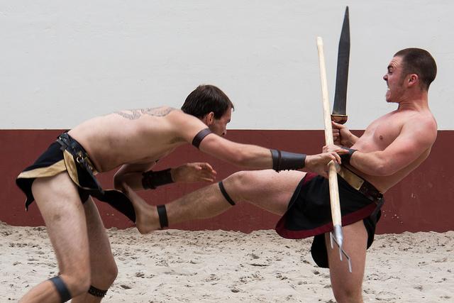 Gladiator fight tonight credits Hans Splinter via Flickr ((CC BY-ND 2.0))